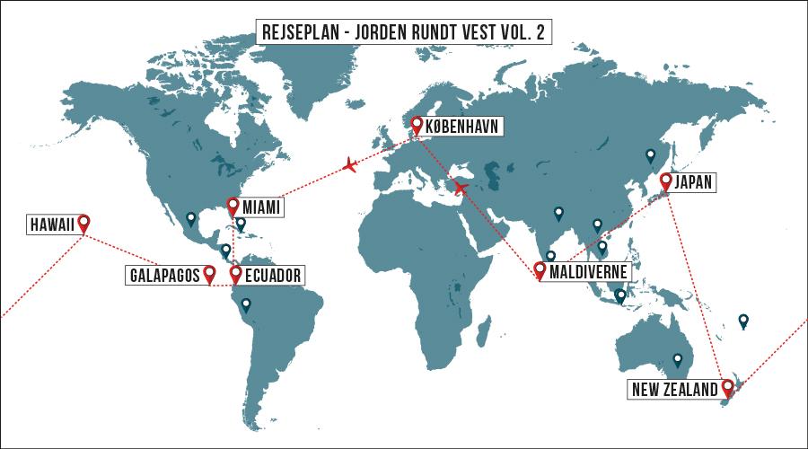 jorden rundt rejser